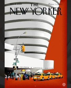 Guggenheim // the alteration of the front cover of  The New Yorker magazine.